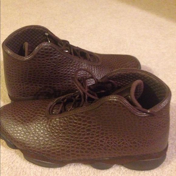 Air Jordan leather brown sneakers size 12